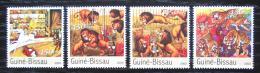 Poštovní známky Guinea-Bissau 2003 Cirkus Mi# 2077-80 Kat 7.50€