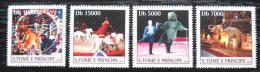 Poštovní známky Svatý Tomáš 2004 Moskevský cirkus Mi# 2669-72 Kat 12€