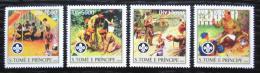 Poštovní známky Svatý Tomáš 2004 Skauti Mi# 2479-82 Kat 12€
