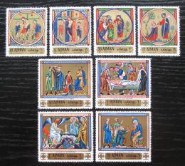 Poštovní známky Adžmán 1970 Velikonoce, miniatury Mi# 506-13