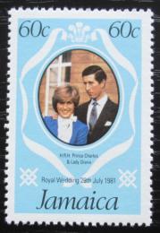 Poštovní známka Jamajka 1981 Princ Charles a Lady Diana Mi# 506