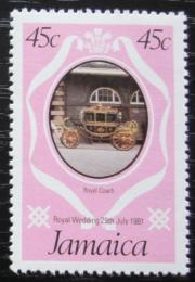 Poštovní známka Jamajka 1981 Královský koèár Mi# 505