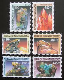 Poštovní známky Kongo Dem. 2002 Minerály TOP SET Mi# 1713-18 Kat 24€