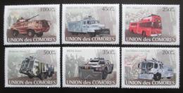 Poštovní známky Komory 2008 Vojenská vozidla Mi# 1843-48 Kat 14€