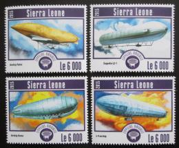 Poštovní známky Sierra Leone 2015 Vzducholodì Mi# 6264-67 Kat 11€