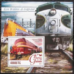 Poštovní známka Guinea 2016 Parní lokomotivy Mi# Block 2633 Kat 16€