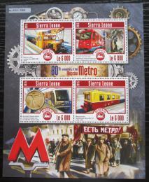 Poštovní známky Sierra Leone 2015 Moskovské metro Mi# 6229-32 Kat 11€