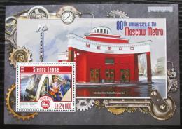 Poštovní známka Sierra Leone 2015 Moskovské metro Mi# Block 780 Kat 11€