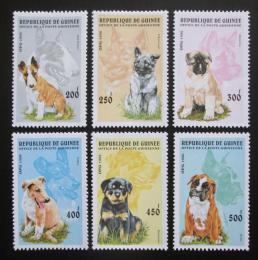 Poštovní známky Guinea 1996 Psi Mi# 1596-1601 Kat 10€