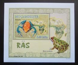Poštovní známka Mosambik 2007 Žáby DELUXE Mi# 2958 Block
