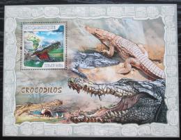 Poštovní známka Mosambik 2007 Krokodýli Mi# Block 221 Kat 10€