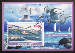 Poštovní známka Burkina Faso 2019 Moøští ptáci Mi# N/N