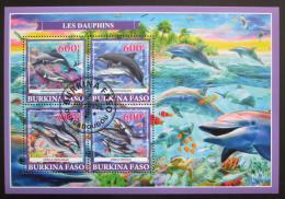 Poštovní známky Burkina Faso 2019 Delfíni Mi# N/N