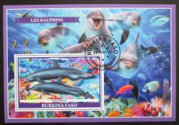 Poštovní známka Burkina Faso 2019 Delfíni Mi# N/N