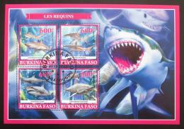 Poštovní známky Burkina Faso 2019 Žraloci Mi# N/N