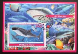 Poštovní známka Burkina Faso 2019 Žraloci Mi# N/N