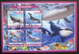 Poštovní známky Burkina Faso 2019 Velryby Mi# N/N