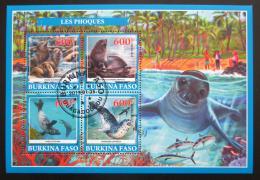 Poštovní známky Burkina Faso 2019 Lachtani Mi# N/N