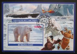 Poštovní známka Burkina Faso 2019 Lední medvìd Mi# N/N