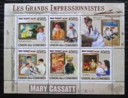 Poštovní známka Komory 2009 Umìní, Mary Cassatt Mi# 2535-39 Kat 10€
