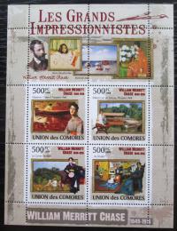 Poštovní známky Komory 2009 Umìní, William Merritt Chase Mi# 2564-67 Kat 9.50€