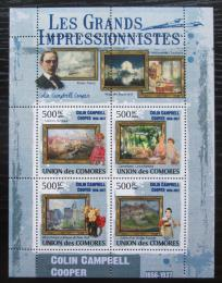 Poštovní známky Komory 2009 Umìní, Colin Campbell Cooper Mi# 2568-71 Kat 9.50€