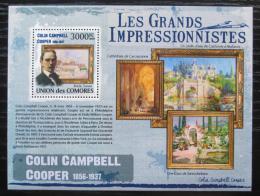 Poštovní známka Komory 2009 Umìní, Colin Campbell Cooper Mi# 2613 Kat 15€