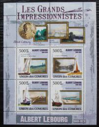 Poštovní známky Komory 2009 Umìní, Albert Lebourg Mi# 2576-79 Kat 9.50€