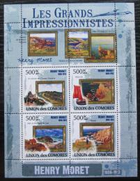 Poštovní známky Komory 2009 Umìní, Henry Moret Mi# 2580-83 Kat 9.50€
