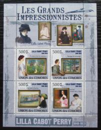 Poštovní známky Komory 2009 Umìní, Lilla Cabot Perry Mi# 2584-87 Kat 9.50€