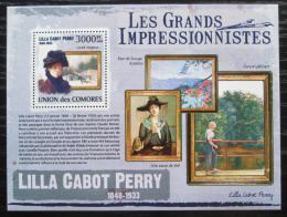 Poštovní známka Komory 2009 Umìní, Lilla Cabot Perry Mi# 2617 Kat 15€