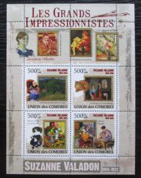 Poštovní známky Komory 2009 Umìní, Suzanne Valadon Mi# 2588-91 Kat 9.50€