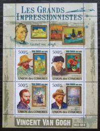 Poštovní známky Komory 2009 Umìní, Vincent van Gogh Mi# 2592-95 Kat 9.50€