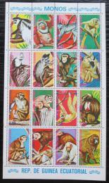 Poštovní známky Rovníková Guinea 1975 Opice Mi# 720-35 Bogen