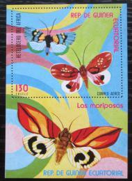 Poštovní známka Rovníková Guinea 1976 Motýli Mi# Block 254 Kat 6€