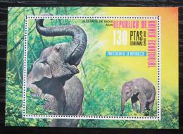 Poštovní známka Rovníková Guinea 1976 Slon indický Mi# Block 238 Kat 7.50€