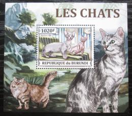 Poštovní známka Burundi 2013 Koèky DELUXE Mi# 3248 Block