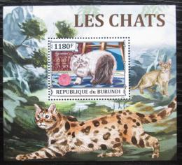 Poštovní známka Burundi 2013 Koèky DELUXE Mi# 3249 Block
