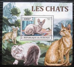 Poštovní známka Burundi 2013 Koèky DELUXE Mi# 3250 Block