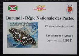 Poštovní známka Burundi 2012 Motýli neperf. DELUXE Mi# 2762 B Block