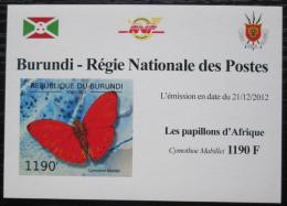 Poštovní známka Burundi 2012 Motýli neperf. DELUXE Mi# 2763 B Block