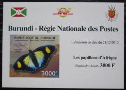 Poštovní známka Burundi 2012 Motýli neperf. DELUXE Mi# 2765 B Block