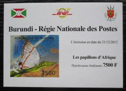 Poštovní známka Burundi 2012 Motýli neperf. DELUXE Mi# 2767 B Block