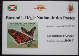 Poštovní známka Burundi 2012 Motýli neperf. DELUXE Mi# 2760 B Block