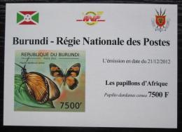 Poštovní známka Burundi 2012 Motýli neperf. DELUXE Mi# 2766 B Block