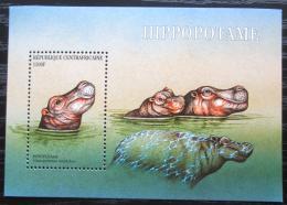 Poštovní známka SAR 2001 Hroch obojživelný Mi# Block 655 Kat 7€
