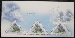Poštovní známky Guinea 2011 Gorily Mi# Block 2002 Kat 18€