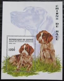 Poštovní známka Guinea 1996 Nìmecký ohaø krátkosrstý Mi# Block 503