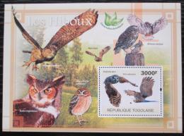 Poštovní známka Togo 2011 Sovy Mi# Block 589 Kat 12€