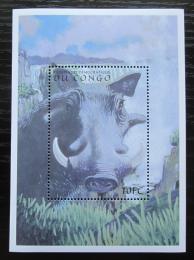 Poštovní známka Kongo Dem. 2000 Prase bradaviènaté Mi# Block 86 Kat 9€